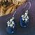 Artisan Sterling Silver Lapis Lazuli Floral Drop Earrings