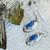Vintage Artisan Signed Sterling Silver Denim Lapis Drop Earrings