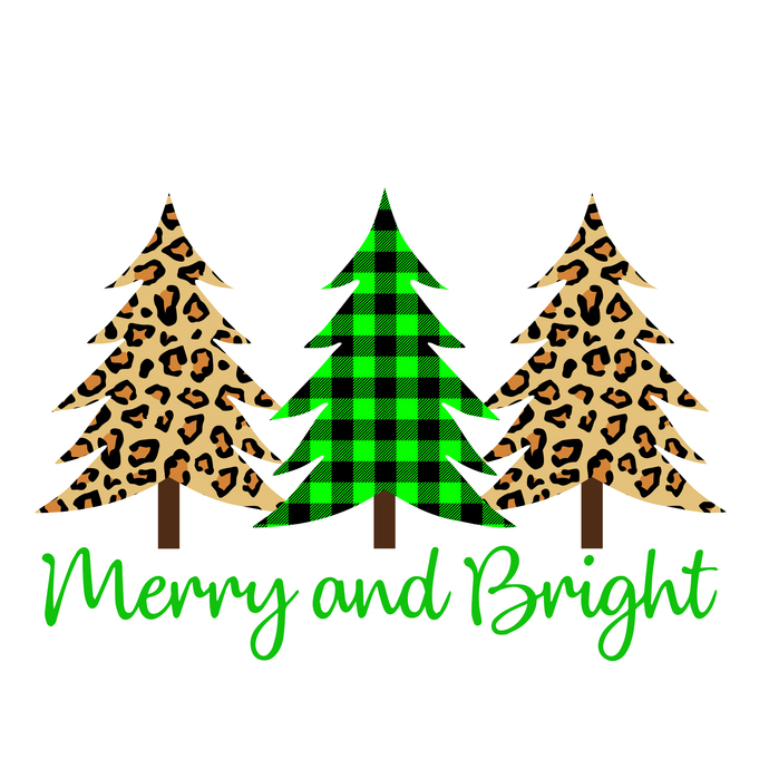 Merry christmas tree leopard plaid png, merry christmas tree leopard plaid