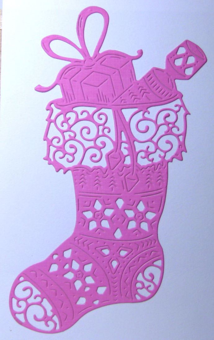 Beautiful Christmas Stocking Cutting Die