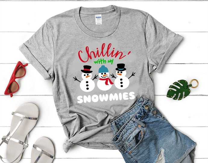 Christmas SVG / Snowman SVG / Chillin with my Snowmies SVG,Chillin with my