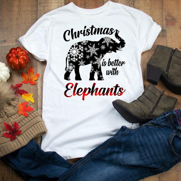 Christmas is better with elephant, elephant, elephant lover, elephant