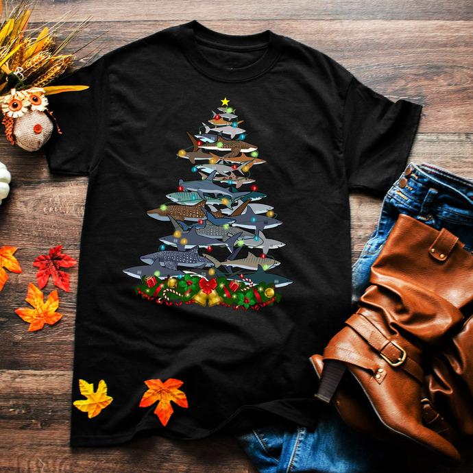 Shark, shark design, shark lover, light christmas,Winter, Christmas,  Christmas