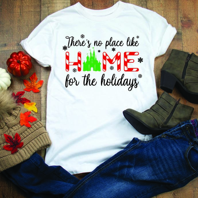 There's no place like home for the holidays, disney, disney svg, disney town,