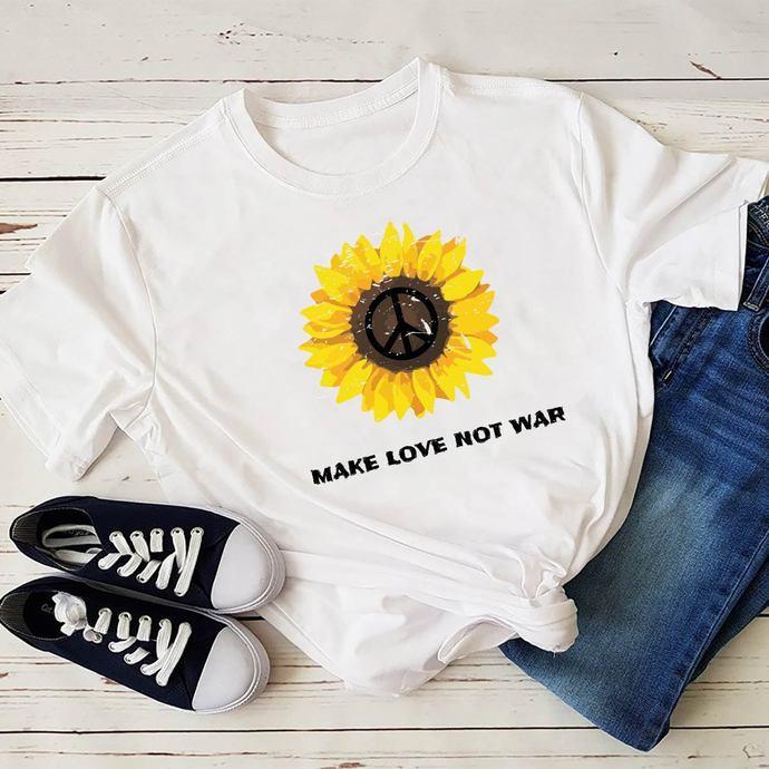 Makes Love Not War, Daisy, Daisy Svg, Sunflower, Roses Svg, Gift For Friends,