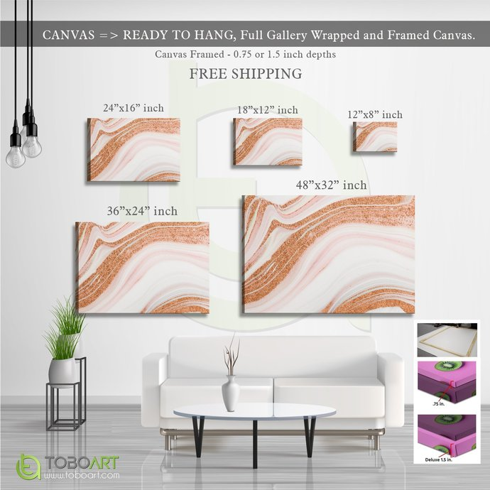 FREE SHIPPING - Large Marble Art, Beautiful Abstract Art CV24 Landscape Canvas