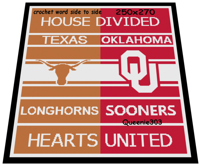 House Divided Longhorns Sooners 250x270