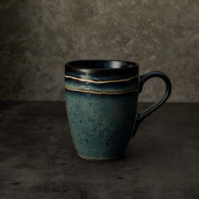 ceramic coffee mug,Vintage style pottery,pottery mug, handmade ceramic mug,