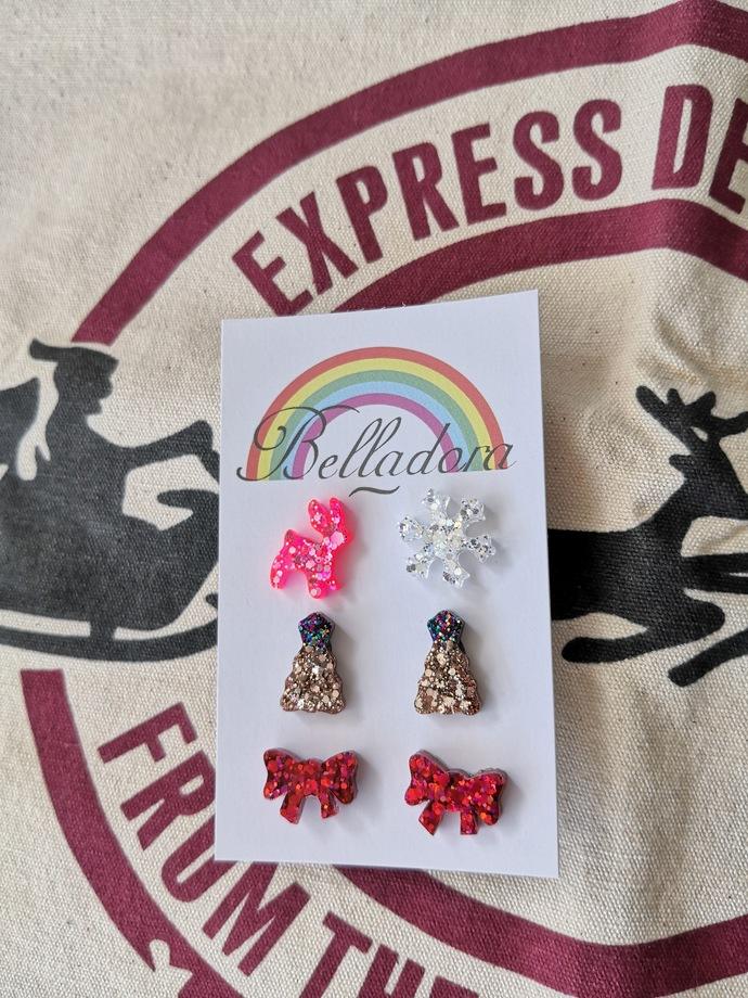 Stud Pack - Reindeer/Snowflake, Trees and Bows