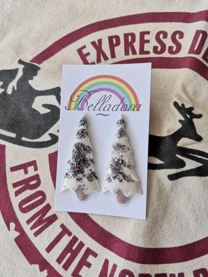 Christmas Trees - White and Rainbow