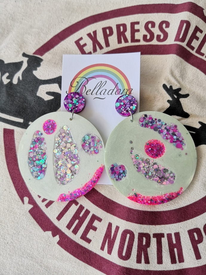 Abstract Baubles - Green, Pink and Purple