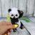 Crochet panda, tiny bear, exotic stuffed animal, interior toy for home
