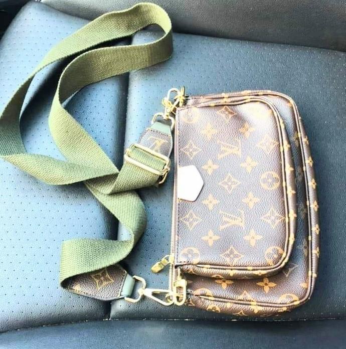 Louis Vuitton bag strap - upcycled LV bag strap - Louis Vuitton bag strap -