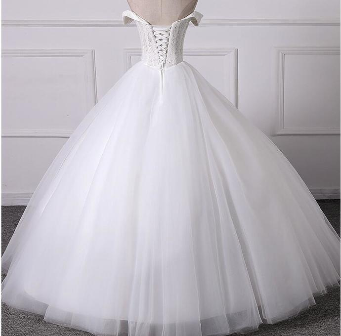 New Arrival White Lace Pricess Weddisng Dresses 2020 Sweet Ball Gowns Wedding