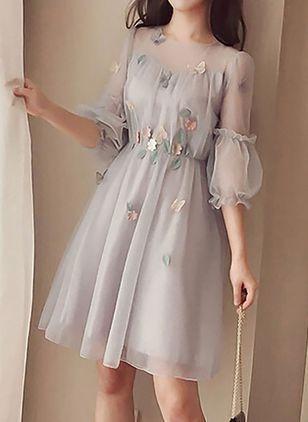 grey homecoming dress