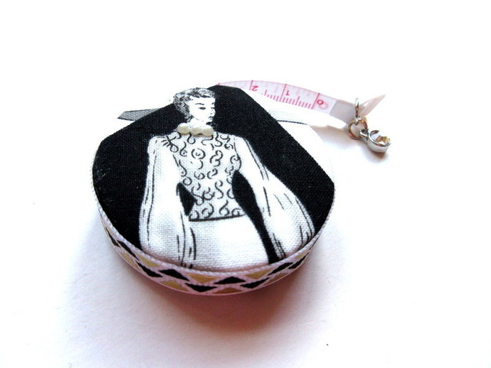 Tape Measure with Retro Ladies Small Retractable Measuring Tape