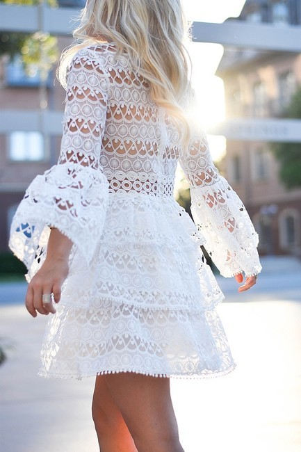 Short Party Dress with lace,  Cocktail Dress