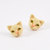 Cream cats Earrings Сream cat stud Сute cat Сat jewelry Yellow cat eyes Funny