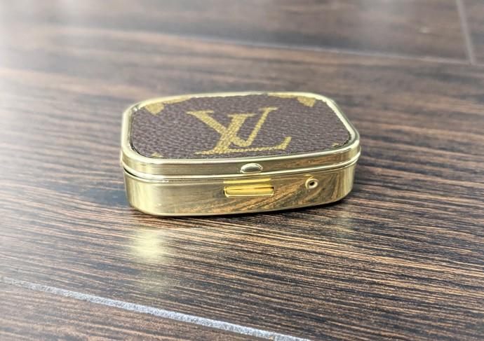 LV Pill box - Louis Vuitton Pill box - upcycled LV pill box - Louis Vuitton Pill