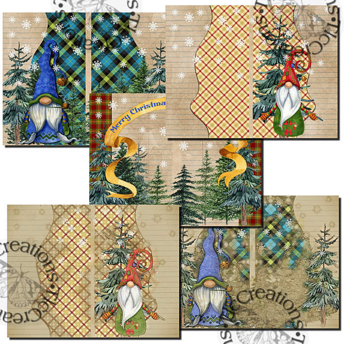 Gnome Place Like Home for the Holidays Printable Junk Journal Kit