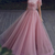 New Arrival Luxury Prom Dresses A Line High Neck Sequined Beaded Tassels Tulle