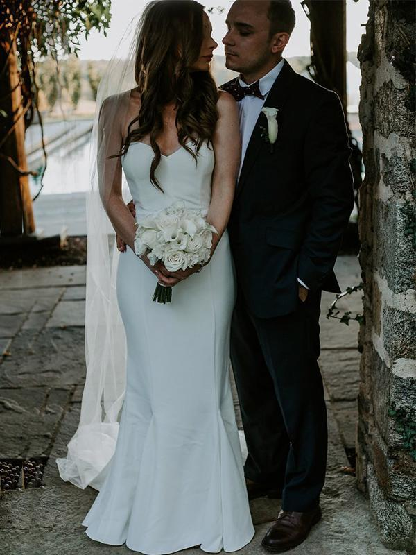 Beach Boho Sheath Sleeveless Sweep Train Wedding Dresses, Discount Open Back