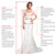 A-Line Chiffon Bateau Long Sleeves Floor-Length With Lace Wedding Dresses,Back