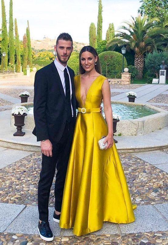 Yellow Prom Dress Fashion Prom Dress,Sexy Party Dress,Custom Made Evening Dress