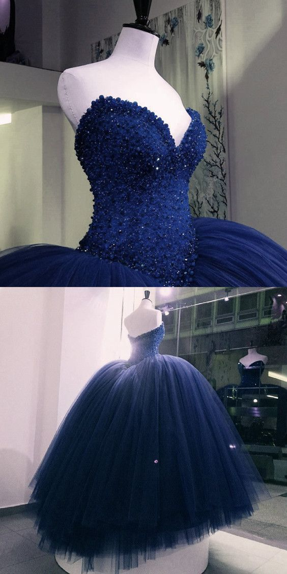 Navy Blue Prom Dresses,Navy Blue Quinceanera Dress,Engagement Dress For Bridal