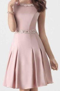 Pretty A-line Satin Homecoming Dresses , Short Homecoming Dress