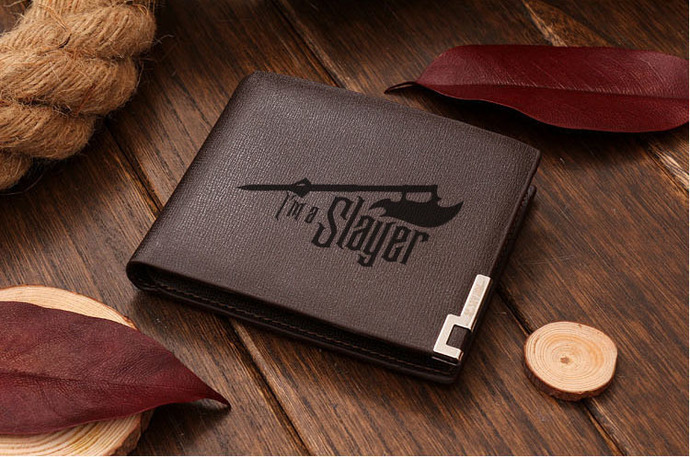 I'M A SLAYER BUFFY THE VAMPIRE SLAYER Leather Wallet