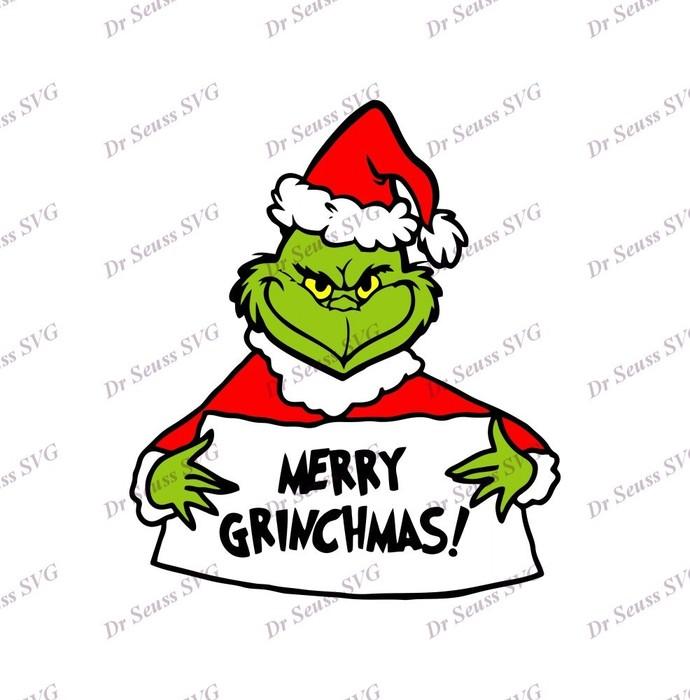 Merry Grinchmas Dr Seuss SVG 2, svg, dxf, Cricut, Silhouette Cut File, Instant