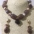 Brown Agate Nuggets and Jasper Necklace set