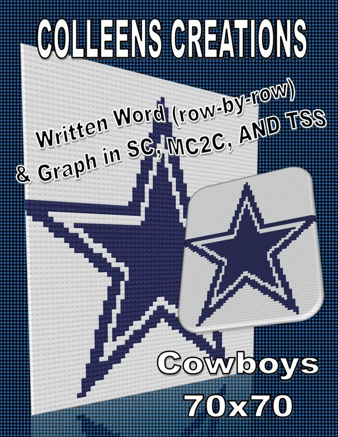 Cowboys Crochet Written and Graph Design