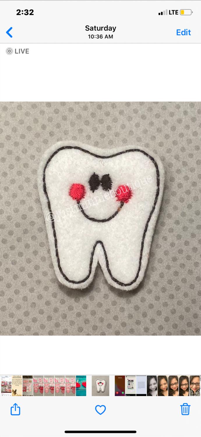 Tooth Feltie 4 pc UNCUT