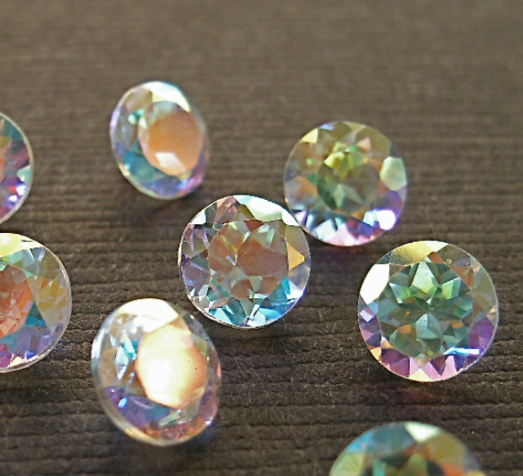 Faceted Gemstone Topaz Mercury Mist 6mm FOR LAST ONE