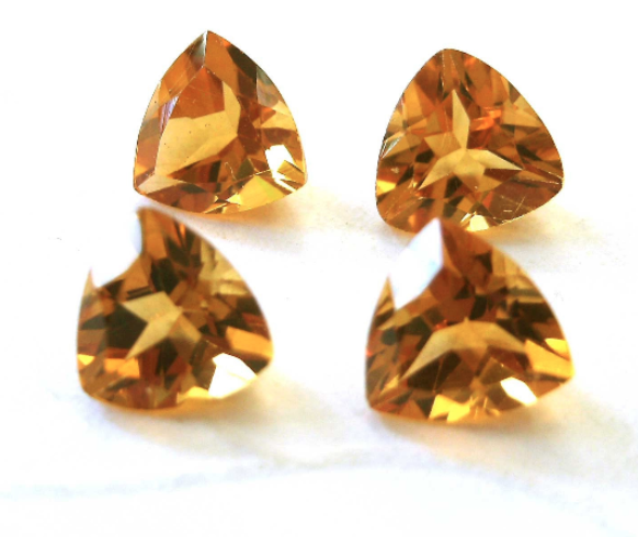 Citrine 5mm Faceted Gemstone Trillion Cut FOR LAST ONE