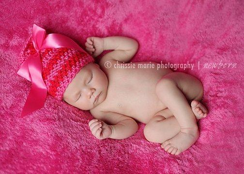 SWEETHEART Crochet Newborn Baby Photography Prop Ribbon Beanie Photo Prop