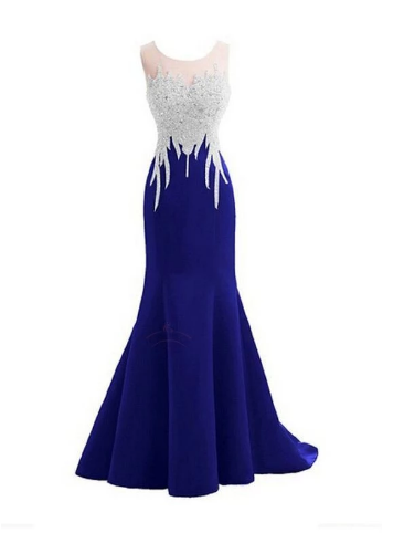 Royal Blue Beaded Mermaid Sexy Party Prom Dress, new style fashion evening gowns