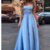Sexy Evening Dress,Prom Dress With Ruffles,Appliques Prom Gown,Long Prom