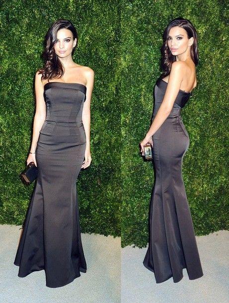 Black long prom dress, Mermaid Prom Dress