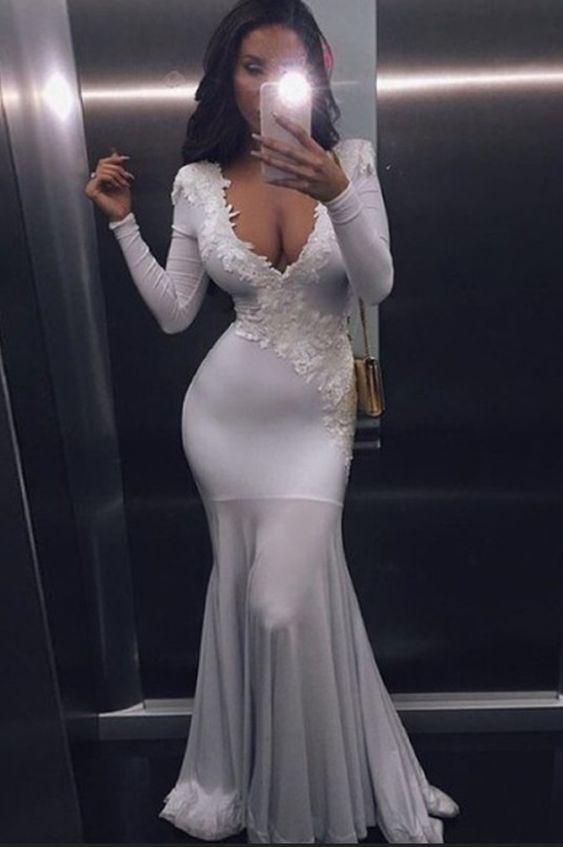 Charming Prom Dress,Long Prom Dress,Long Sleeve