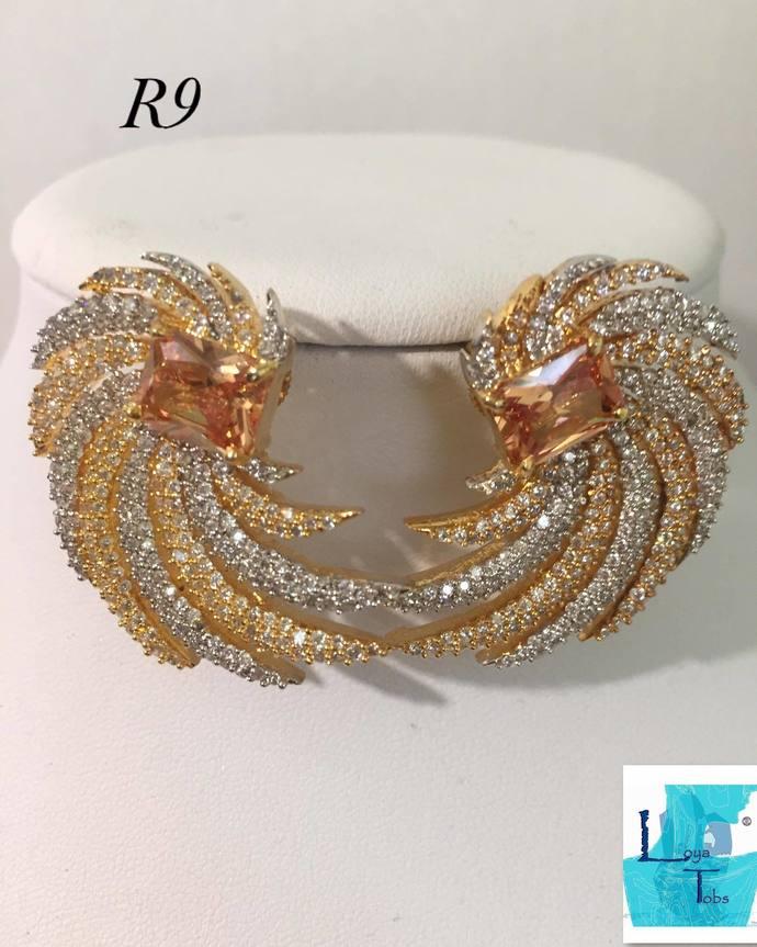 Champagne Swirl Earrings