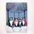 The Winter Tuxedo Cats Original Cat Folk Art Painting