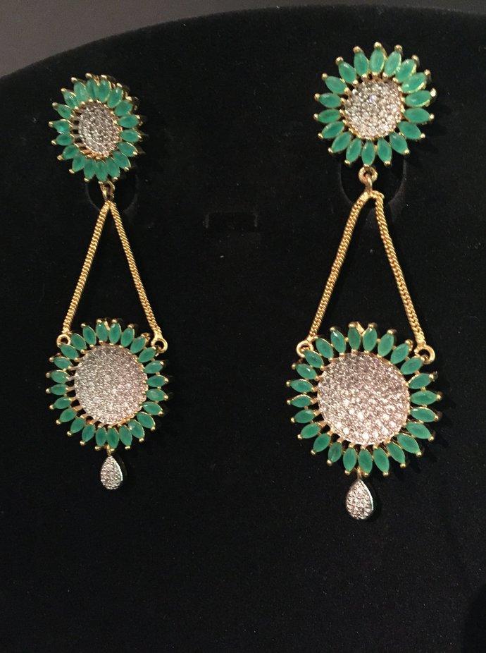The Green Wheel Earrings