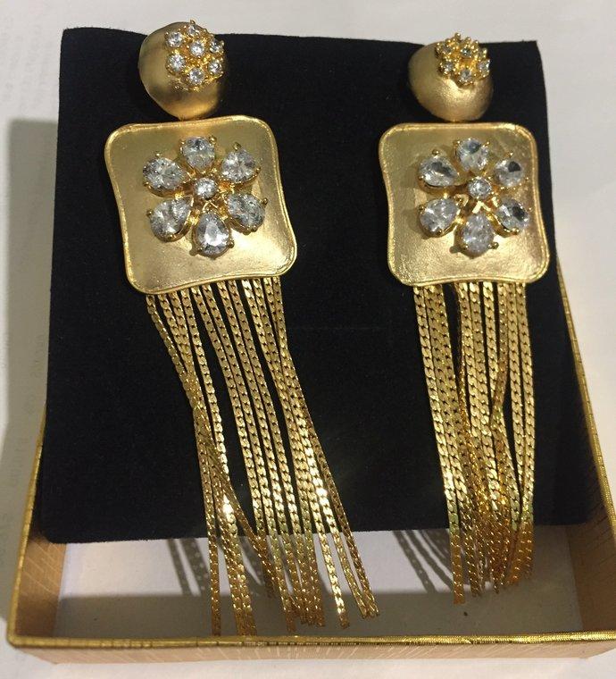 The Gold Tassel Earrings