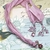 SWAROVSKI CRYSTAL Boho Gypsy Silk Sari Ribbon Bookmark PINK | Book Readers Gift