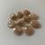 Peach Moonstone Gemstone Cabochon Rose Cut Polki 16x13mm FOR TWO