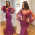 Sexy Mermaid Prom Dresses Illusion Neckline Long Sleeves 3D Applique Beaded