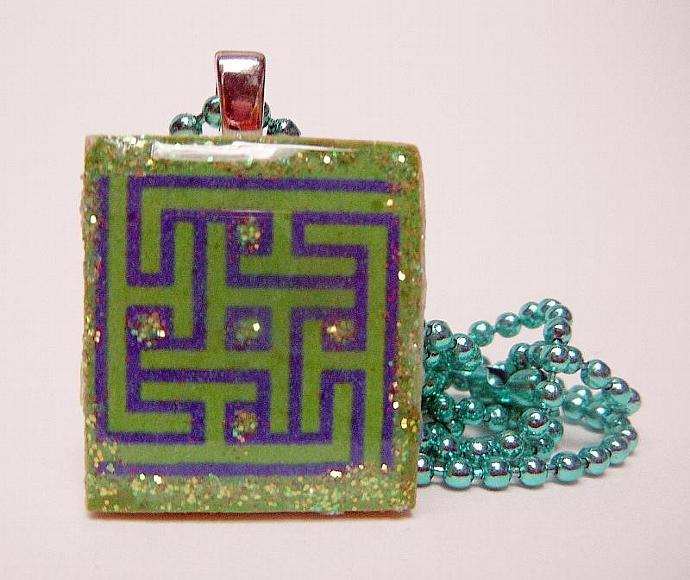 Square Allah Scrabble Tile Pendanet Necklace